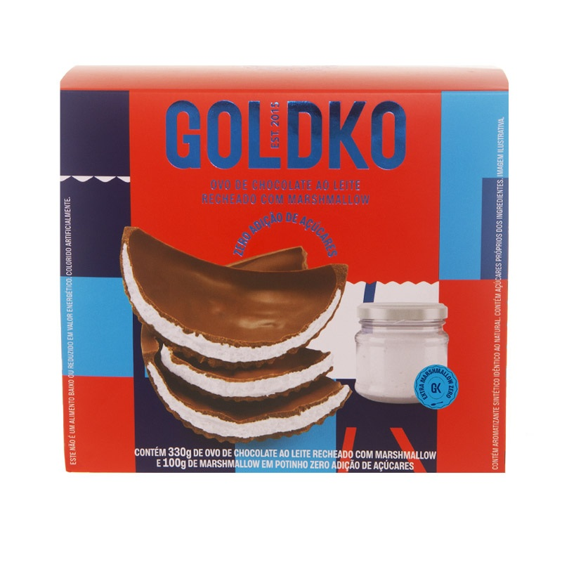 Ovo de Páscoa GoldKo com marshmallow zero açúcar: pra comer sem culpa!