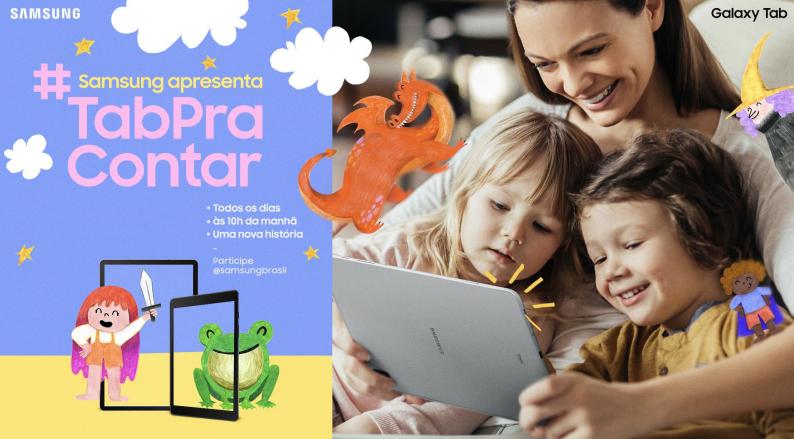 #TabPraContar: Samsung reúne mamães influenciadoras para contar histórias no Instagram