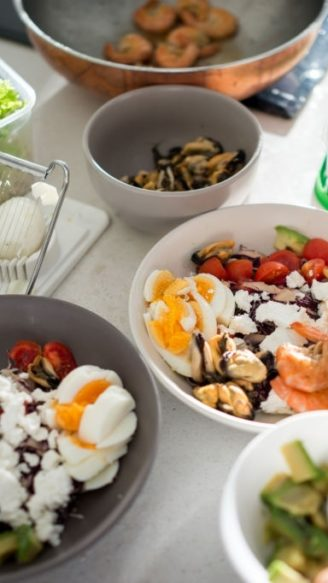 Preparing Ketogenic diet food in kitchen
