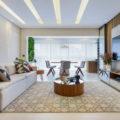 Na área social, os arquiteto Bruno Moura e Lucas Blaia conseguiram criar vários ambientes funcionais na planta baixa de 64 m²  Foto: Fernando Crescenti